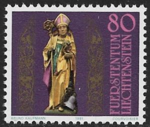 LIECHTENSTEIN 1981 ST THEODUL Issue Sc 713 MNH