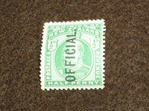 1908 NEW ZEALAND Stamps SGO69 OFFICIAL 1/2d GREEN OVERPRINT UNMOUNTED MINT MNH
