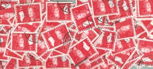 Greenland. Lot Bulk Off Paper.1979 100 Stamps Sc.# 122. 130 Ore. Slania