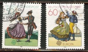 Germany Scott 1349-50used 1981 Europa costume set