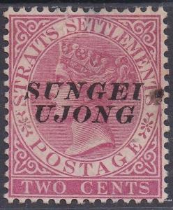 SUNGEI UJONG 1885 QV 2C OVERPRINT SG TYPE 44 USED