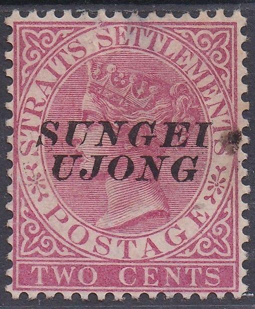 SUNGEI UJONG 1885 QV 2C OVERPRINT SG TYPE 44 USED