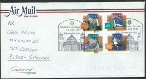 AUSTRALIA 1991 cover to Germany - nice franking - Sydney Pictorial pmk.....14791
