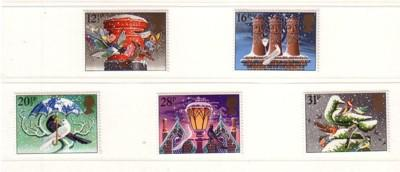 Great Britain Sc 1035-9 1983 Christmas stamp set mint NH