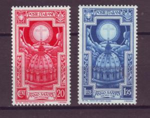J21482 Jlstamps 1933 italy mh #310,313 cross