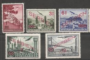 Serbia German Occupation 2NC11-5 set NH
