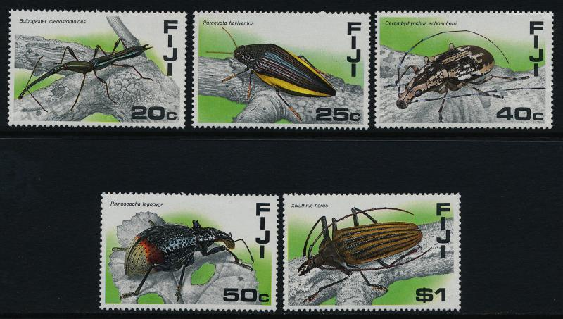 Fiji 574-8 MNH Insects, beetles