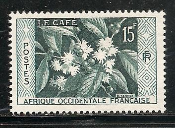 French West Africa 73 1956 Coffee single MNH