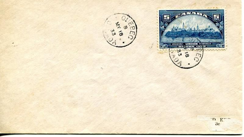 Canada FDC #202 canceled in Quebec VF