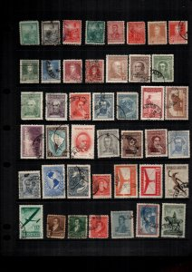 Argentina  MH  and used lot of 38