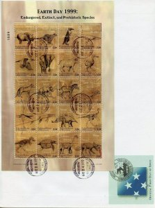 MICRONESIA 1999 EARTH DAY SHEET FIRST DAY COVER