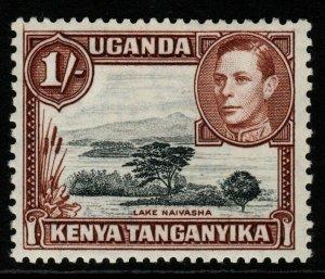 KENYA, UGANDA & TANGANYIKA SG145a 1942 1/= BLACK & BROWN MTD MINT