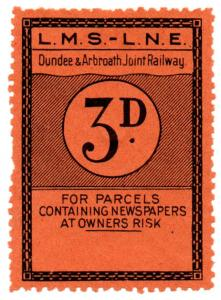 (I.B) Dundee & Arbroath Joint Railway : Newspaper Parcel 3d (LMS-LNER)