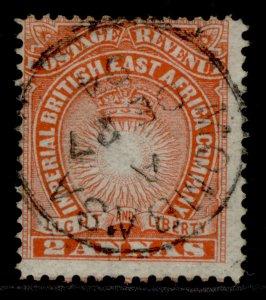 BRITISH EAST AFRICA QV SG6, 2a vermilion, FINE USED. CDS