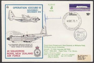 NEW ZEALAND ROSS DEPENDENCY 1976 signed flight cover ex Scott Base.........A323