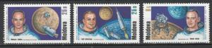Moldova 1999 Space, Apollo 11 30th Anniversary Moon Landing 3 MNH stamps