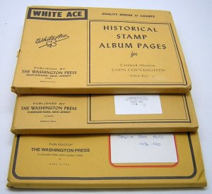 WHITE ACE: Copyright Blocks Pages 1978 to 1990 COMPLETE - NEW/NO STAMPS