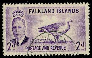 FALKLAND ISLANDS SG174, 2d violet, VERY FINE USED.
