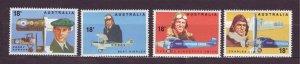 J23486 JLstamps 1978 australia set mnh #672-5 airplanes