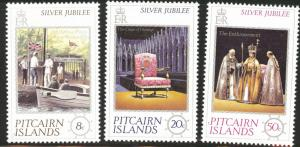 Pitcairn Islands Scott 160-2 MNH** 1977 Jubilee set CV$1.50