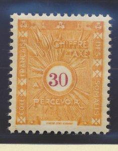 Somali Coast (Djibouti) Stamp Scott #J15 Color Variation, Mint Hinged