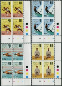 Fiji 665-668 bl./4,MNH.Mi 660-663. Olympics Barcelona-1992.Running,Yachting,Judo