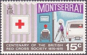 Montserrat # 229 mnh ~ 15¢ Red Cross Centenary