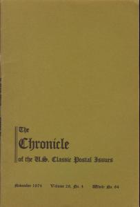 The Chronicle of the U.S. Classic Issues, Chronicle No. 84