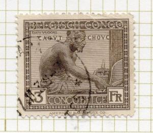 Belgian Congo 1923 Early Issue Fine Used Value 3F. 248134