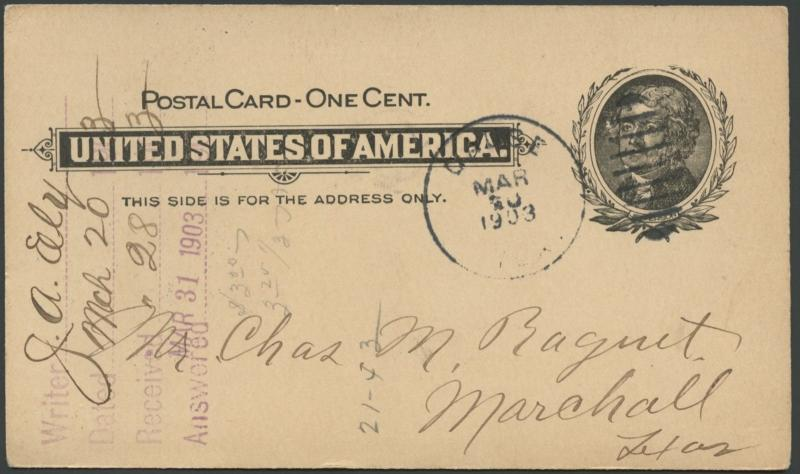 TEXAS MILAM COUNTY (1903 Gause) #431