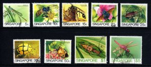 SINGAPORE 1985 The Insects Issue Part Set to $5 SG 491 to SG 501 VFU