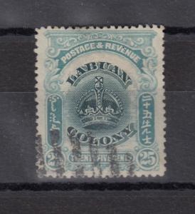 Labuan Colony 1906 25c Blue VFU X9268