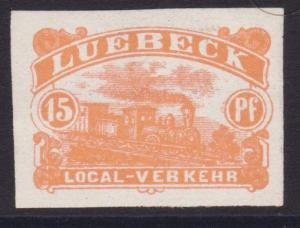 GERMANY LUEBECK An old forgery of a classic stamp...........................5500