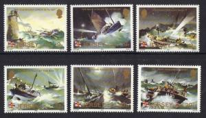 Jersey  1984  MNH lifeboat station centenay  complete