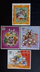 Disney - Maldives 1995. ** MNH Block 4x complete