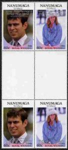 Tuvalu - Nanumaga 1986 Royal Wedding (Andrew & Fergie...