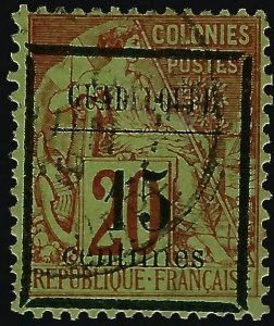 Guadeloupe Scott #4 Overprint Used F-VF SCV$32.50..French Colonies are hot!