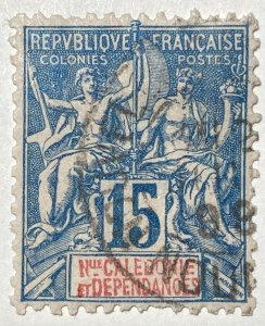 AlexStamps NEW CALEDONIA #47 XF Used