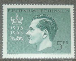 1963 LIECHTENSTEIN Scott #375 PRINCE FRANZ JOSEPH II