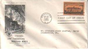 United States, First Day Cover, New Jersey