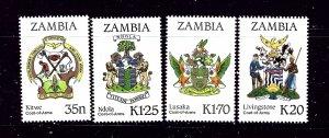 Zambia 373-76 MNH 1987 Municipal Arms