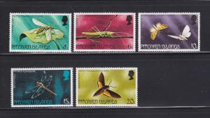 Pitcairn Islands 151-155 Set MNH Insects