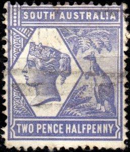 SOUTH AUSTRALIA - 1894 - SG237 2-1/2d violet-blue p.15 - Very Fine Used