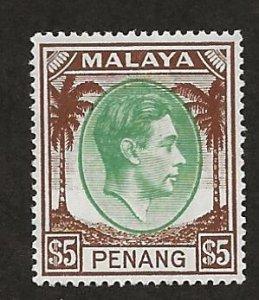 MALAYA - PENANG  SC# 22  VF/MOG