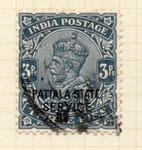 Indian States Patiala 1927-36 Early Issue Fine Used 3p. Optd 075637