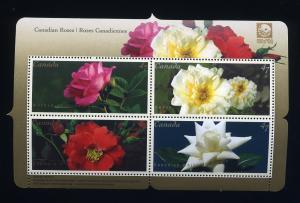 Canada 2001, MNH # 1910 Roses Sheet
