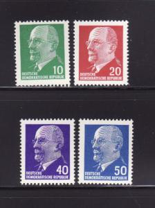 Germany DDR 583, 585, 588-589 MNH Walter Ulbricht Politician