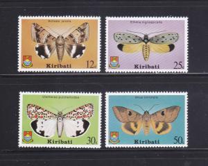 Kiribati 356-359 Set MNH Insects, Moths (A)