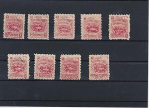Nicaragua Early Mounted overprint Stamps Ref: R4222