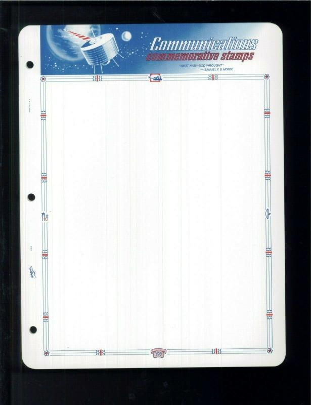 White Ace Stamp Album Pages Communications Topical Blank Pages Pack of 12